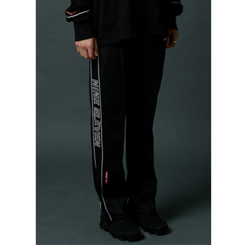 [Nine Eleven] NE side-lined training pants - Black