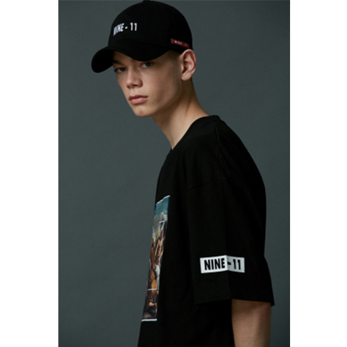 [Nine Eleven] NINE-11 logo ball cap - Black