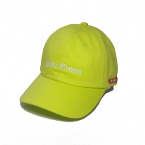 [Nine Eleven] NE old english ball cap - lime
