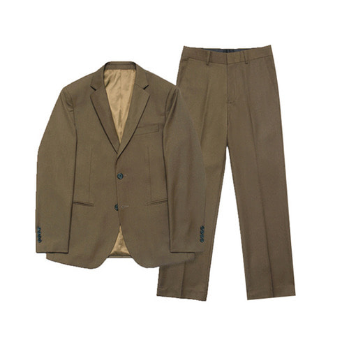 [LAFUDGESTORE] Metier Wide Set-up Suit_Brown