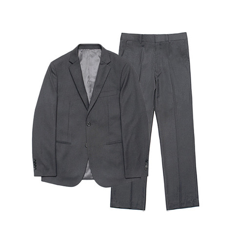 [LAFUDGESTORE] Metier Wide Set-up Suit_Charcoal