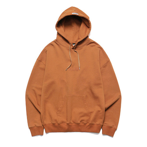 [LAFUDGESTORE] Slow Heavy Hoodie_Orange Brown