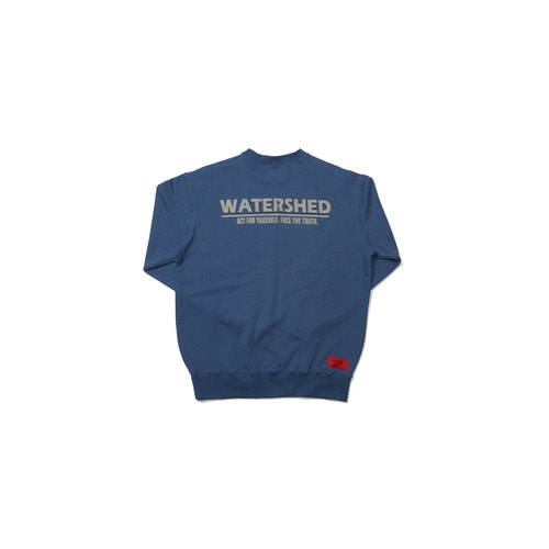 [OVERR] 18FW WATERSHED BLUE SWEATSHIRTS