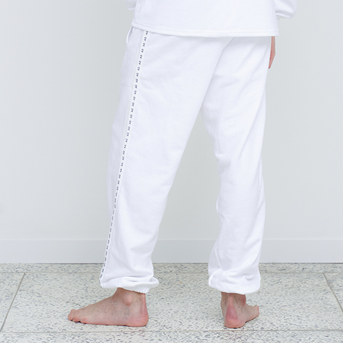 [OY] TAPE SWEAT PANTS - WH