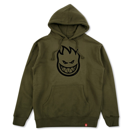 [Spitfire] BIGHEAD PULLOVER HOODED SWEAT SHIRT - ARMY/BLACK