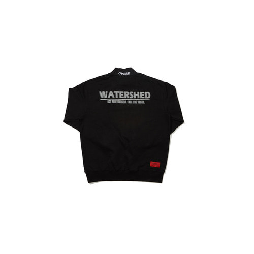 [OVERR]18FW WATERSHED HALF BLACK SWEATSHIRTS