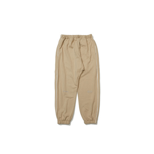 [OVERR] 18FW BEIGE SCOTCH PIPING PANTS