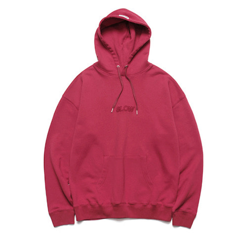 [LAFUDGESTORE] Slow Heavy Hoodie_Meddle Red
