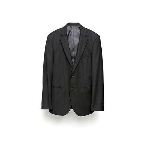 [LAFUDGESTORE] Metier Wool Jacket_Black