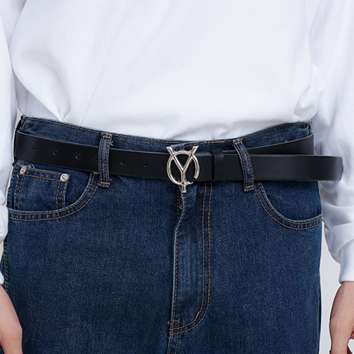 [OY] LOGO LEATHER BELT