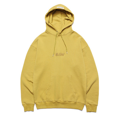 [LAFUDGESTORE] Slow Heavy Hoodie_Lemon Yellow