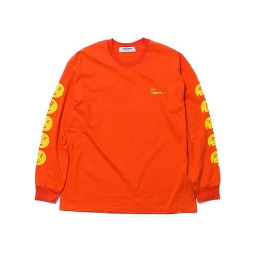 [Realization] Hmmm Emoji Long Sleeve - ORANGE