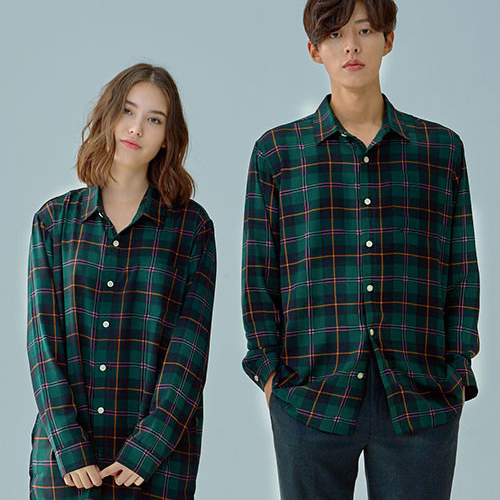 [OROR] R1-022 CHECK SHIRTS - GREEN