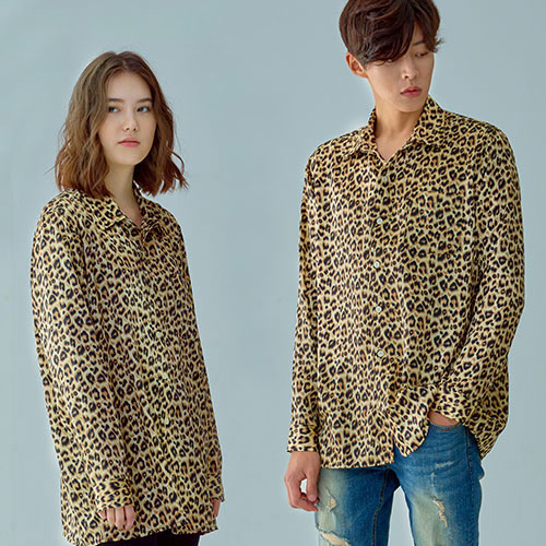 [OROR] R1-025 LEOPARD SHIRTS - BROWN