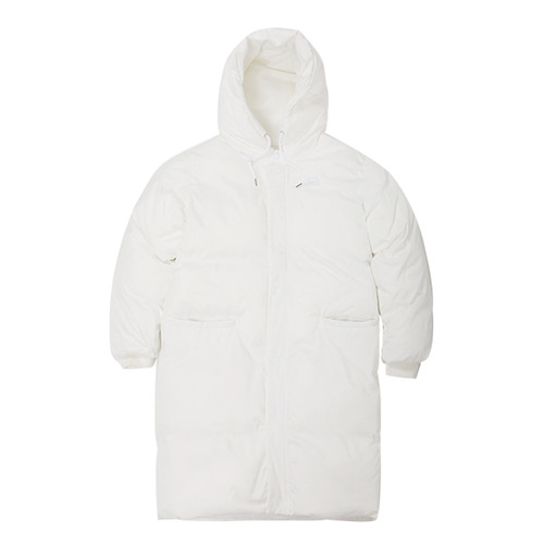 [VIBRATE] - BASIC LOGO DUCK DOWN LONG JUMPER (WHITE)