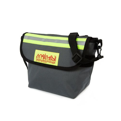 [Manhattan Portage] COLLEGE PLACE HANDLEBAR BAG W/VINYL LINING - GREY