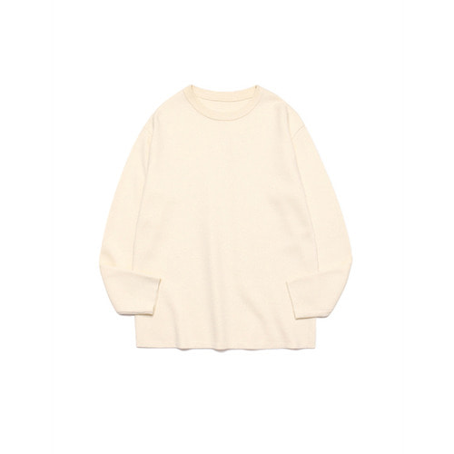[LAFUDGESTORE] Merino Wool Round Knit_Cloud Cream