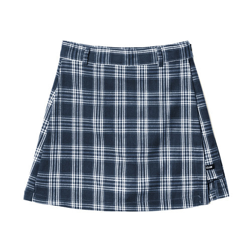 [NSTK] FANCY CHECK WRAP SKIRT NAVY (NF18A080H)
