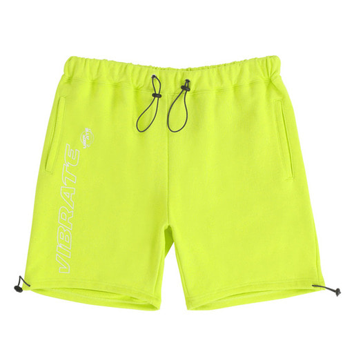 [VIBRATE] - TRIPPER OUTLINE LOGO SHORT PANTS (LIME)