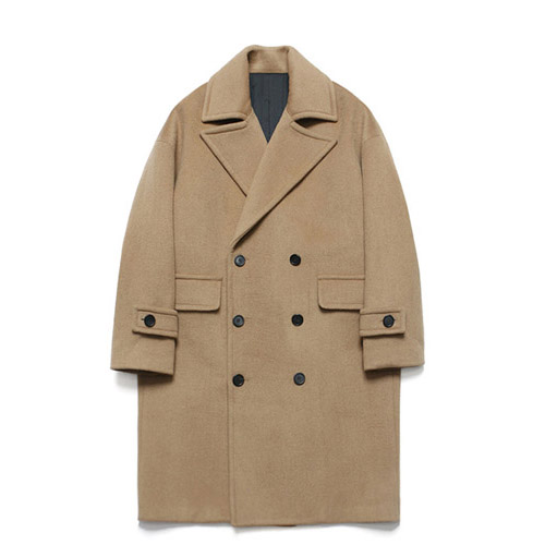 [LAFUDGESTORE] Wool Over Double Coat_Rich Beige