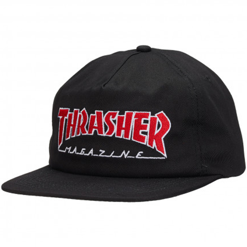 [Thrasher] OUTLINED Snapback - Black