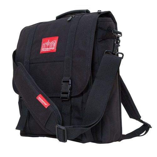 [Manhattan Portage] COMMUTER LAPTOP BAG (17 IN.) WITH BACK ZIPPER - BLACK