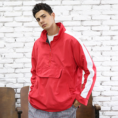 [TENBLADE] Semi Oversized Bryce Lee Anorak_Red
