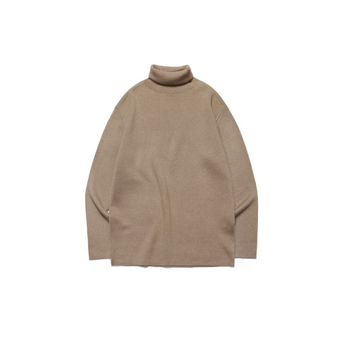 [LAFUDGESTORE] Merino Wool Polo Knit_Walnut Brown