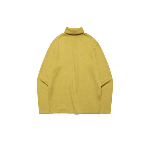 [LAFUDGESTORE] Merino Wool Polo Knit_Lentil Yellow