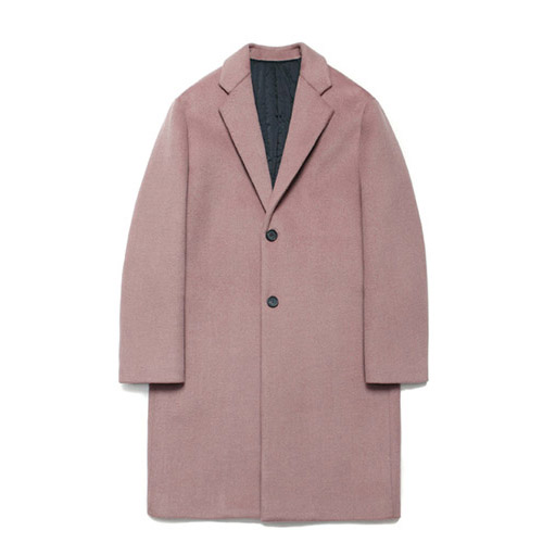 [LAFUDGESTORE] Wool Single Coat_Quartz Pink