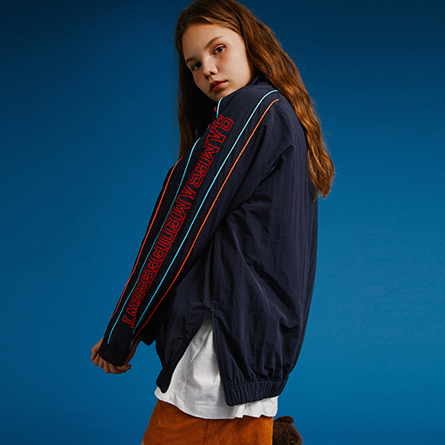 [MOTIVESTREET]COLOR LINE HALF ZIP UP JACKET