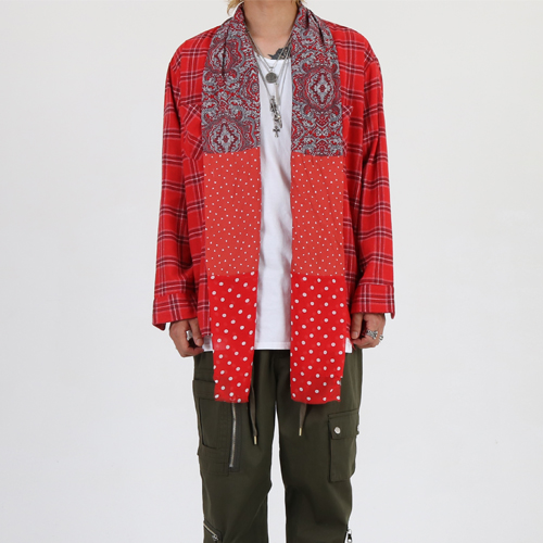 [Innovant] Paisley shirt (red)