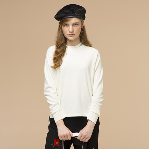 [THE GREATEST] GTXMMD 01 Camellia Knit TEE IVORY