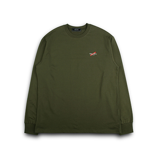 [EINEN]Distinction Long T-Shirts Khaki