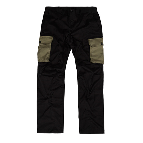 [Feel Enuff] PATCH CARGO PANTS - BLACK