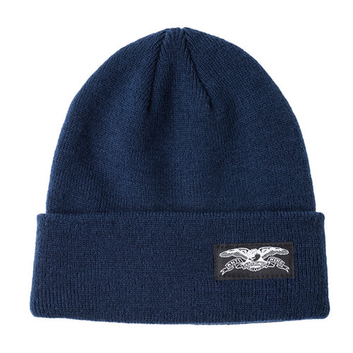 [Anti Hero] BASIC EAGLE LABEL CUFF BEANIE - NAVY/WHITE