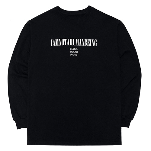 [18FW] INTERNATIONAL LONG SLEEVE T SHIRTS - BLACK