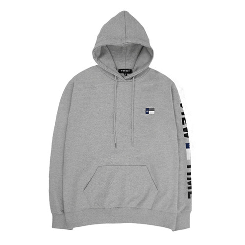 [VETEZE] Time Logo Hood (grey)
