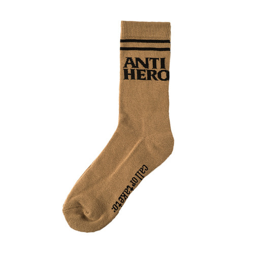 [Anti Hero] BLACKHERO IF FOUND SOCKS - OLIVE/BLACK