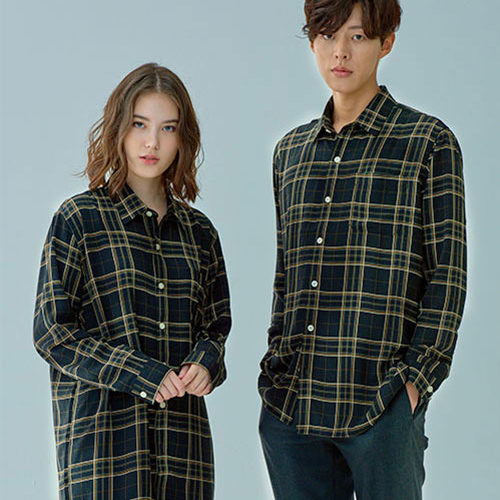 [OROR] R1-021 CHECK SHIRTS - BLACK