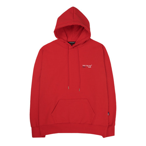 [VETEZE] Small Logo Hood (red)