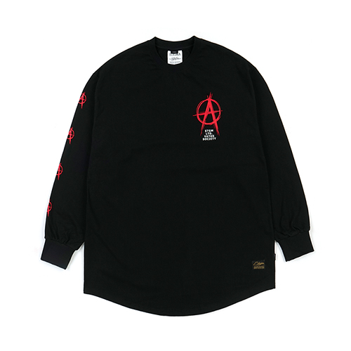 [STIGMA]ANARCHY LAYERED LONG SLEEVES T-SHIRTS - BLACK