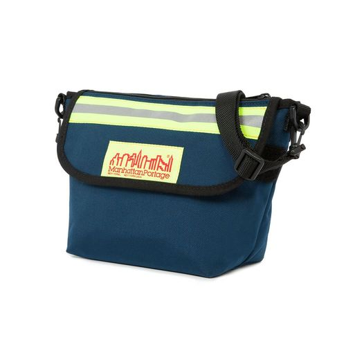 [Manhattan Portage] COLLEGE PLACE HANDLEBAR BAG W/VINYL LINING - NAVY