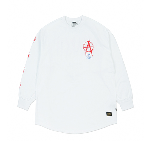 [STIGMA]ANARCHY LAYERED LONG SLEEVES T-SHIRTS - WHITE