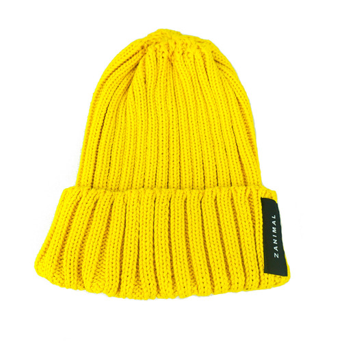 [zanimal] Low Gauge Short Watchcap Yellow