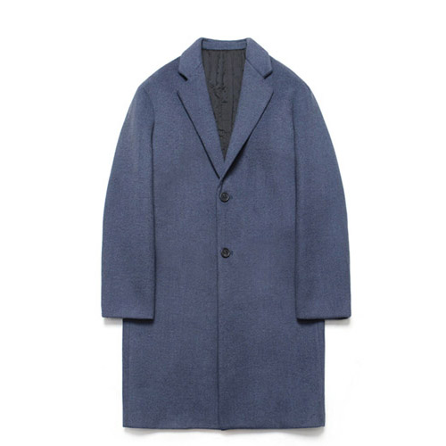 [LAFUDGESTORE] Wool Single Coat_Royal Navy
