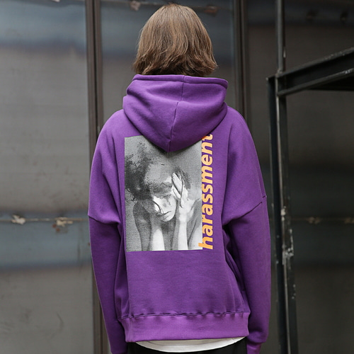 [MASSNOUN] HARSSMENT OVER-FIT HOODIE MFEHD002-PP