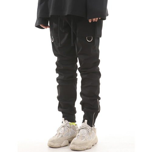 [LANG VERSIO]Zipper Ring Jogger Pants