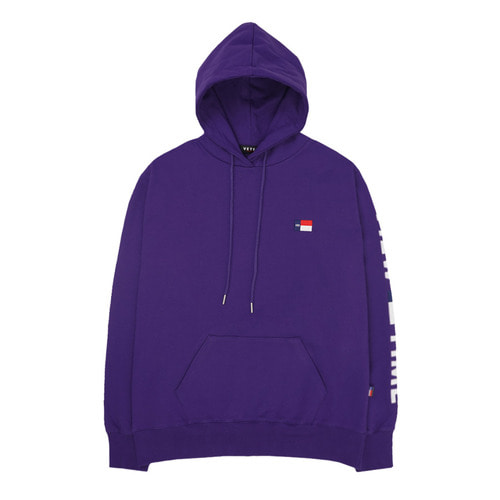 [VETEZE] Time Logo Hood (purple)