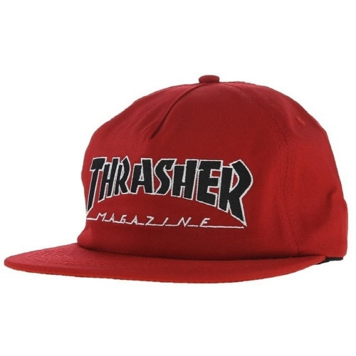 [Thrasher] OUTLINED Snapback - Red